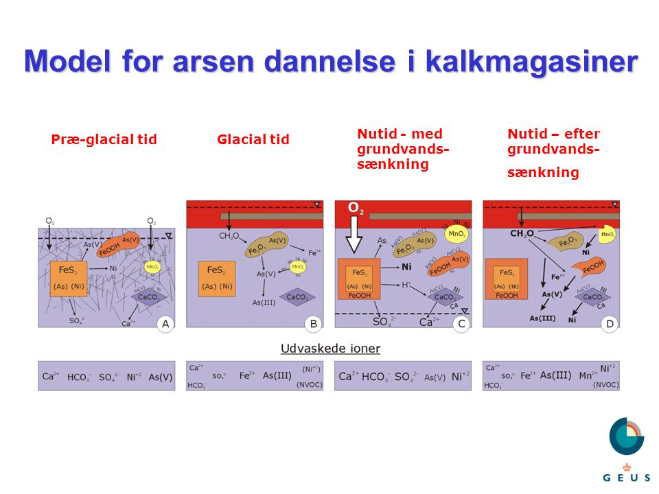 Model for arsen dannelse i kalkmagasiner