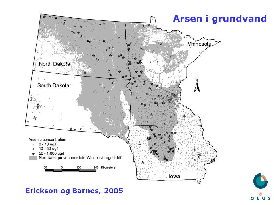 Arsen i grundvand Erickson og Barnes, 2005