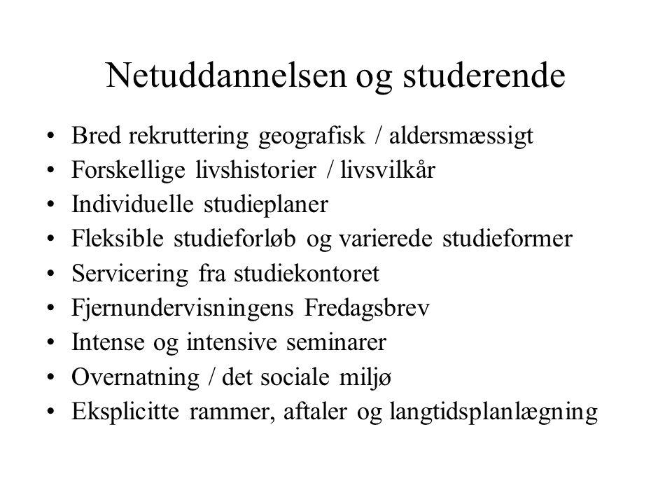 Netuddannelsen og studerende