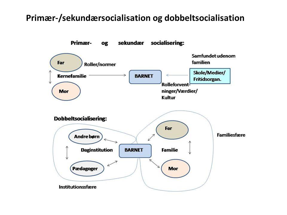 Primær-/sekundærsocialisation og dobbeltsocialisation