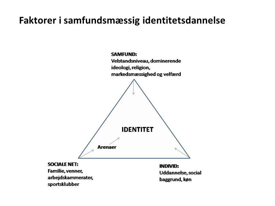 Faktorer i samfundsmæssig identitetsdannelse