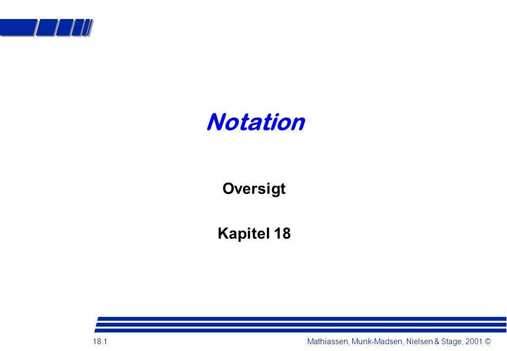 Notation Oversigt Kapitel 18
