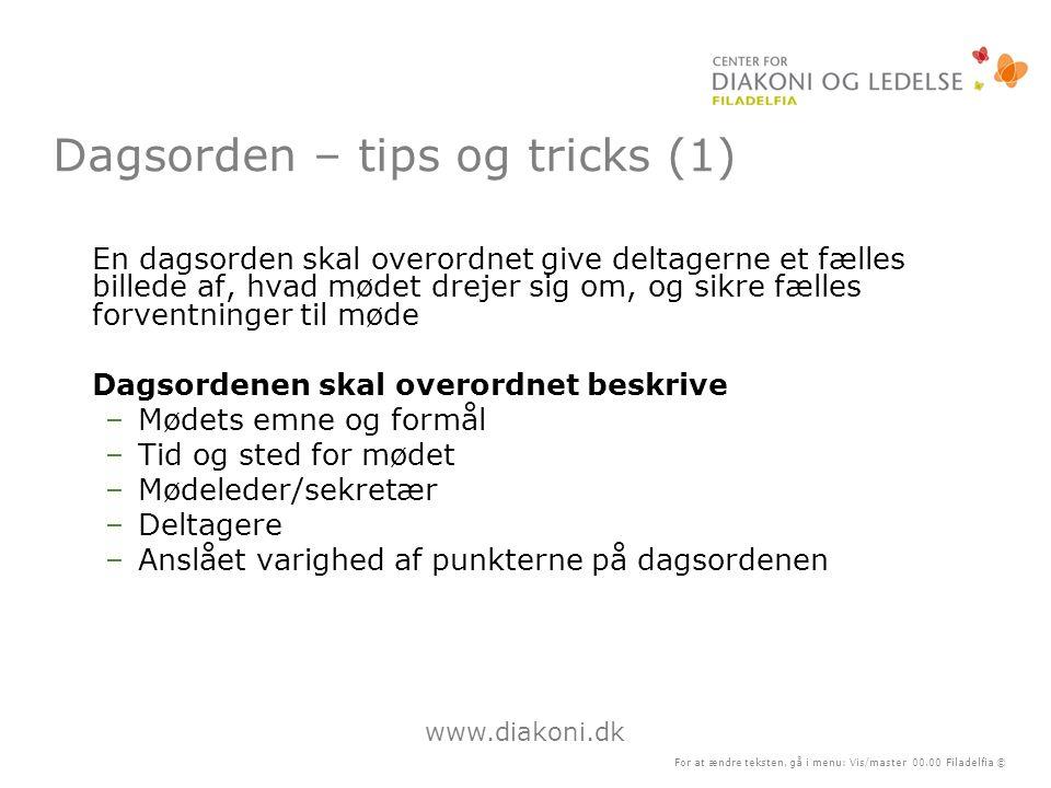Dagsorden – tips og tricks (1)