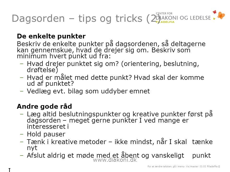 Dagsorden – tips og tricks (2)