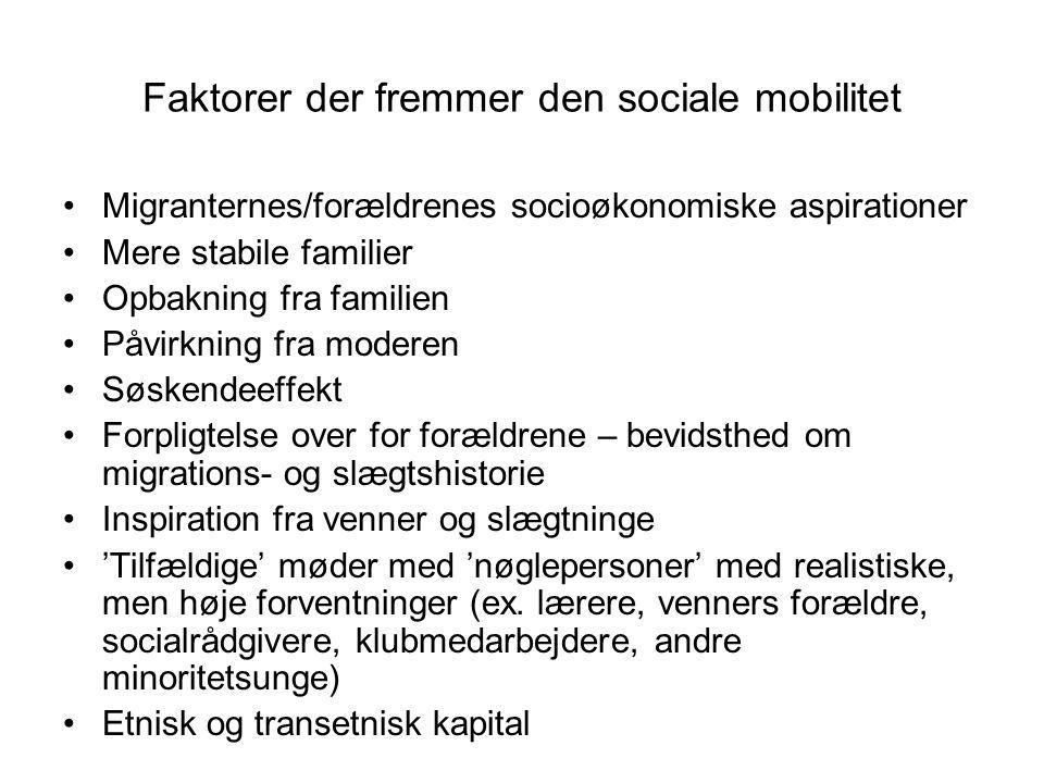 Faktorer der fremmer den sociale mobilitet