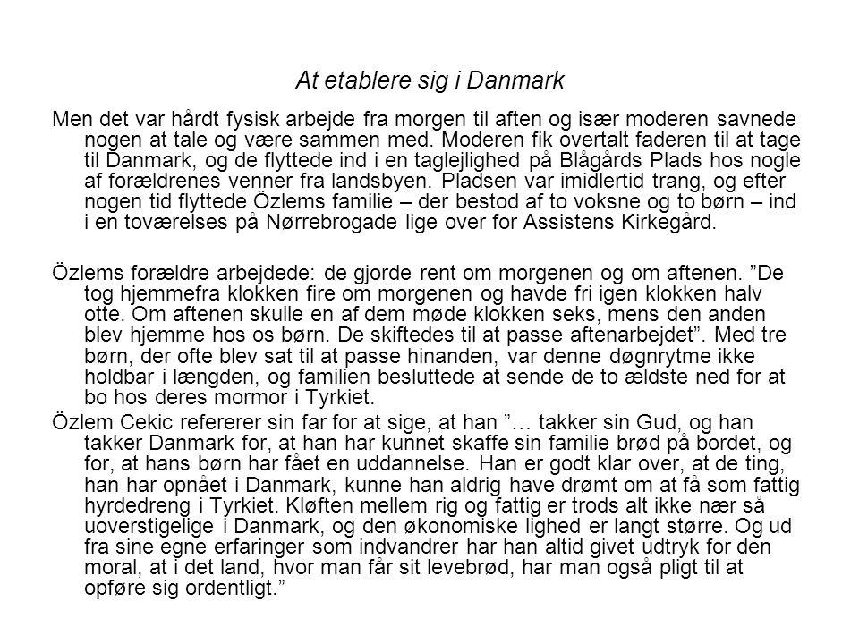 At etablere sig i Danmark