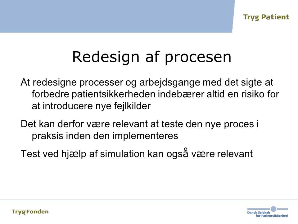 Redesign af procesen