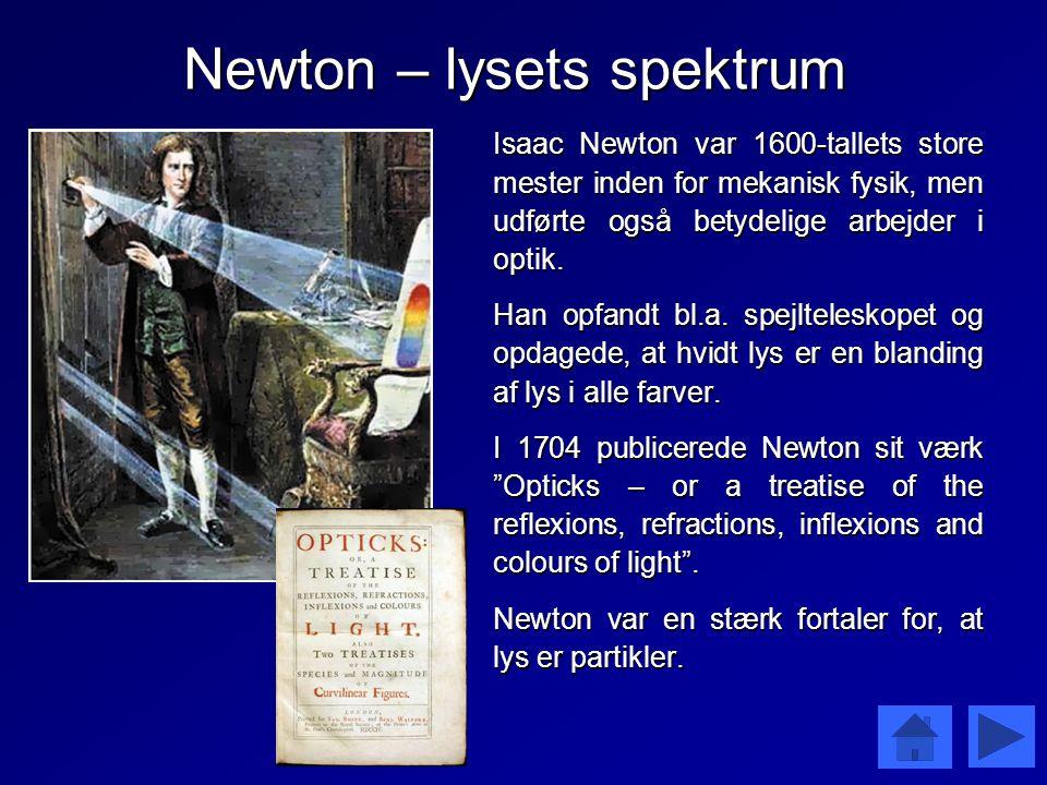 Newton – lysets spektrum