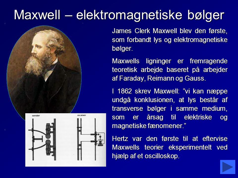 Maxwell – elektromagnetiske bølger