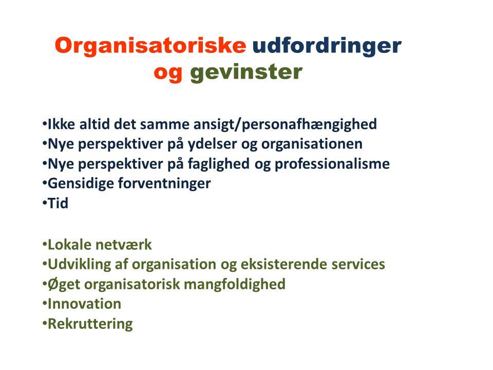 Organisatoriske udfordringer og gevinster