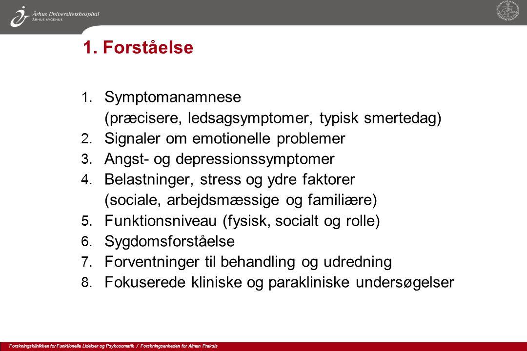 1. Forståelse Symptomanamnese