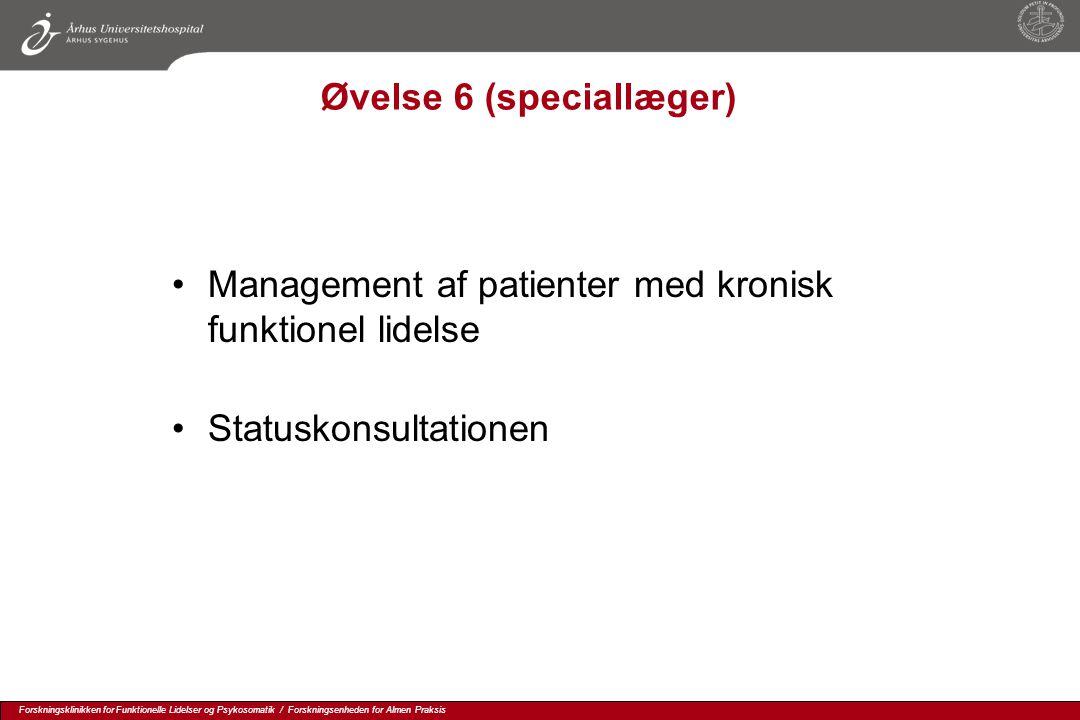 Øvelse 6 (speciallæger)