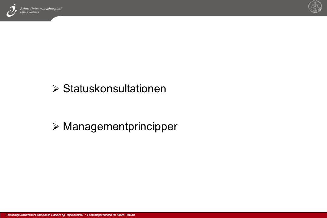 Statuskonsultationen