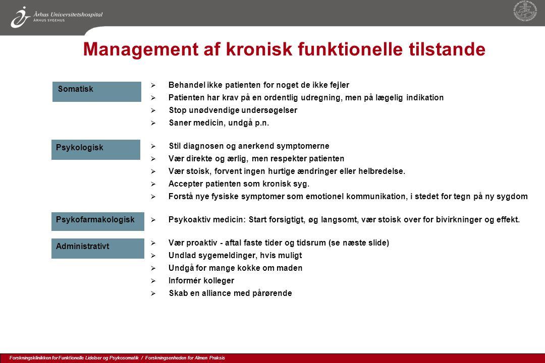 Management af kronisk funktionelle tilstande