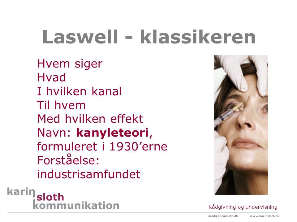 Laswell - klassikeren Hvem siger Hvad I hvilken kanal Til hvem
