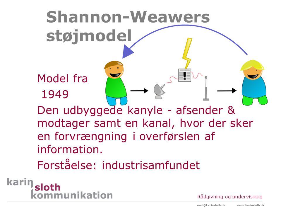 Shannon-Weawers støjmodel