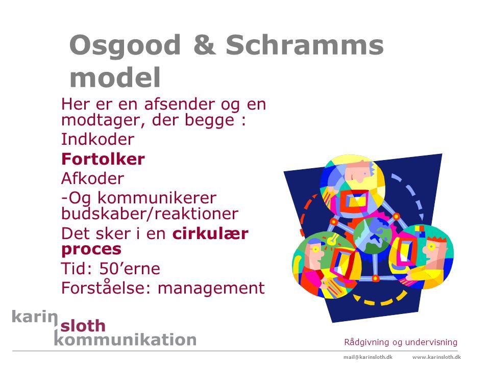 Osgood & Schramms model