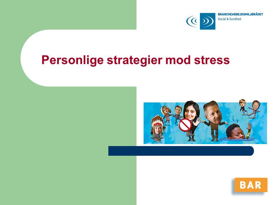 Personlige strategier mod stress