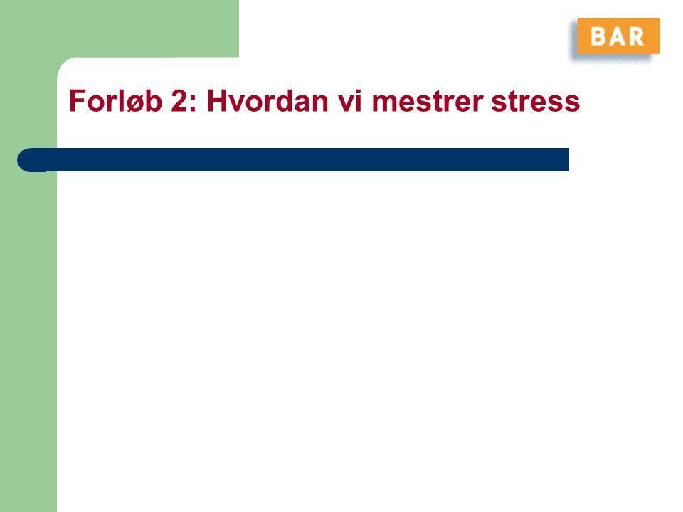 Forløb 2: Hvordan vi mestrer stress