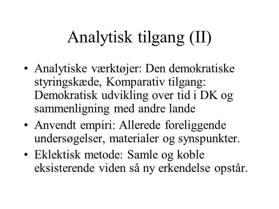 Analytisk tilgang (II)