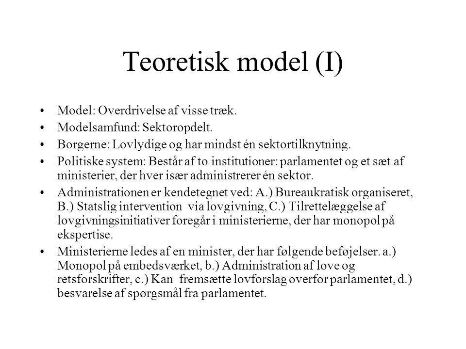 Teoretisk model (I) Model: Overdrivelse af visse træk.