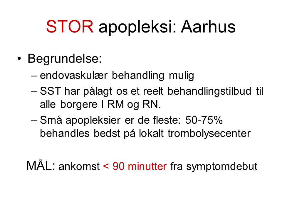 STOR apopleksi: Aarhus