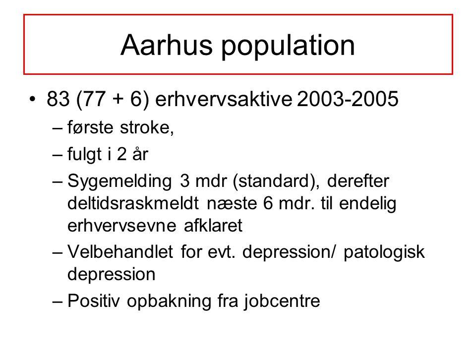 Aarhus population 83 (77 + 6) erhvervsaktive 2003-2005 første stroke,