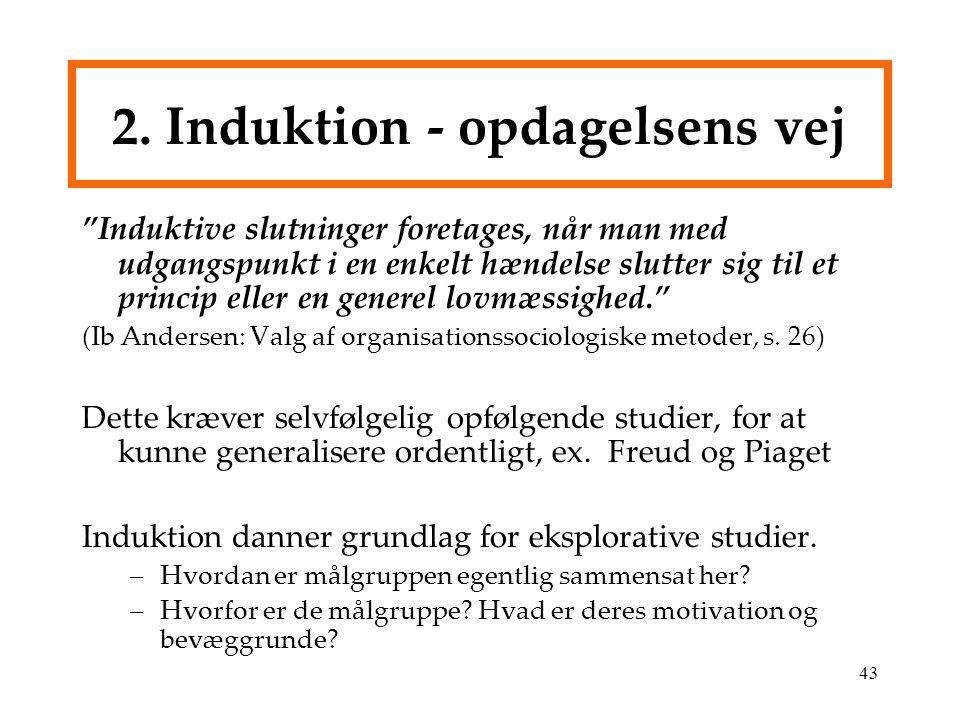2. Induktion - opdagelsens vej