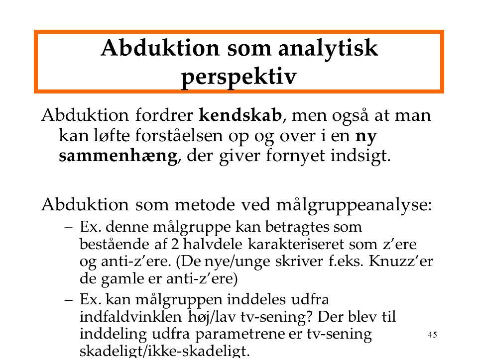 Abduktion som analytisk perspektiv
