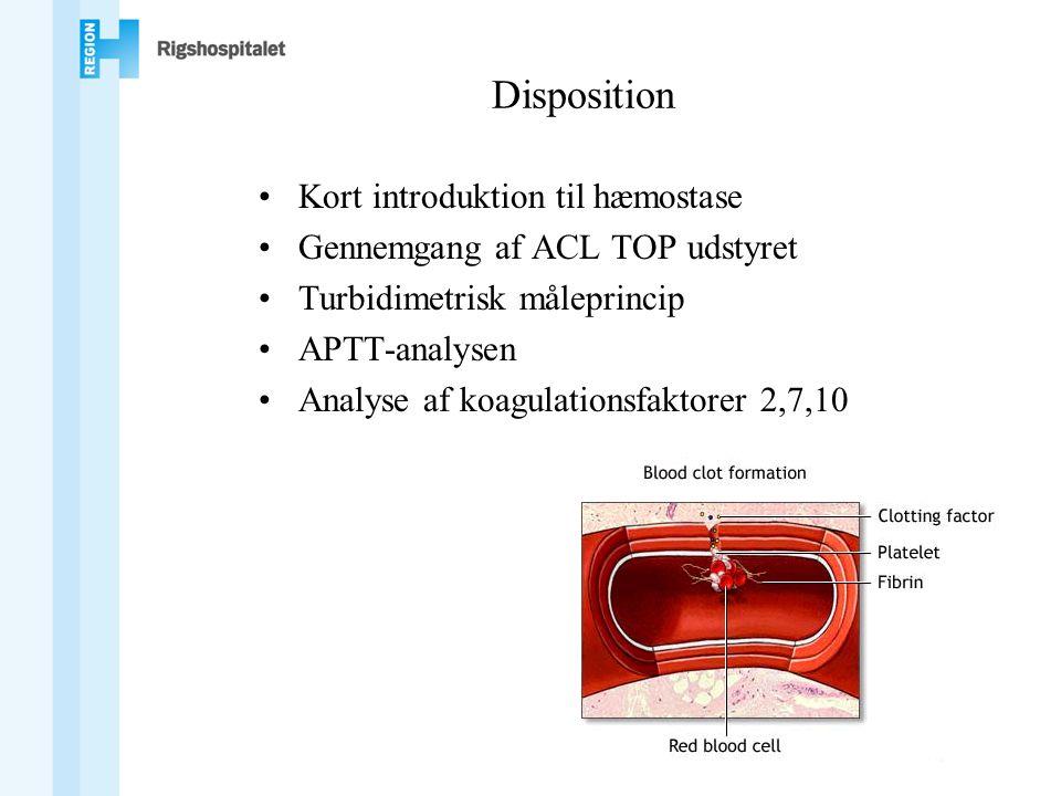 Disposition Kort introduktion til hæmostase