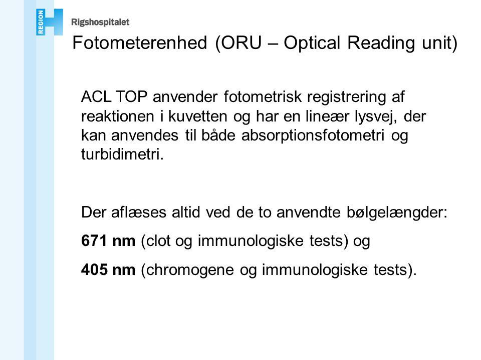 Fotometerenhed (ORU – Optical Reading unit)