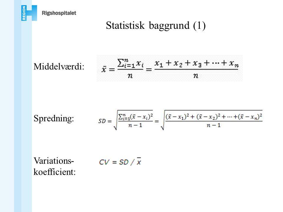 Statistisk baggrund (1)