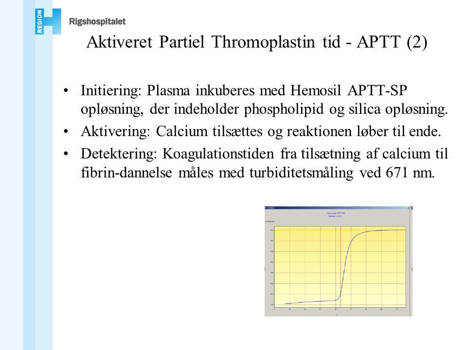 Aktiveret Partiel Thromoplastin tid - APTT (2)