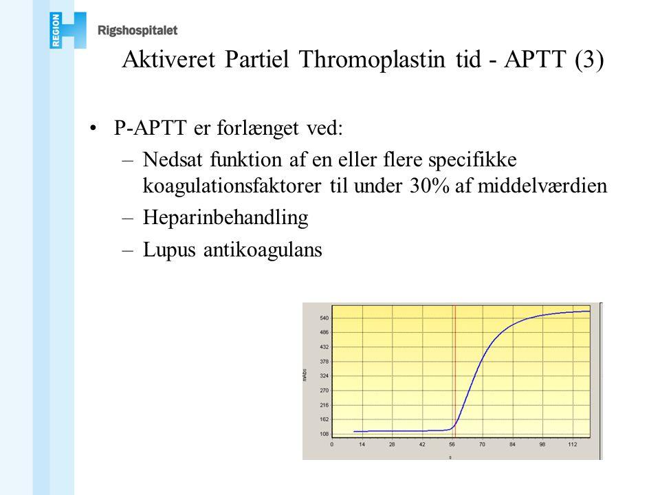 Aktiveret Partiel Thromoplastin tid - APTT (3)