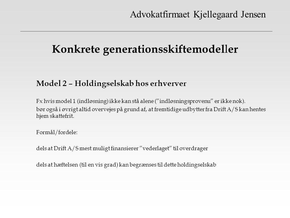 Konkrete generationsskiftemodeller