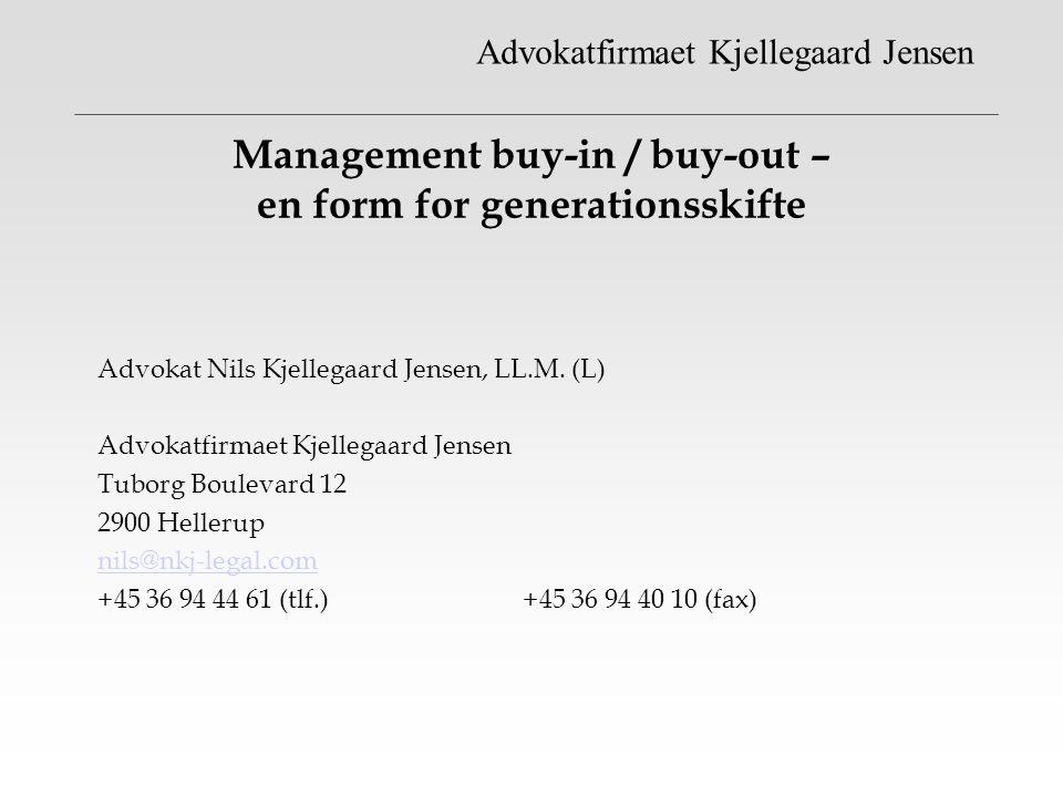 Management buy-in / buy-out – en form for generationsskifte