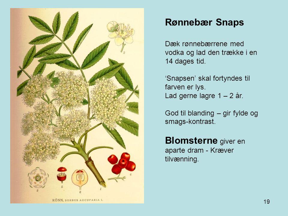 Blomsterne giver en aparte dram - Kræver tilvænning.