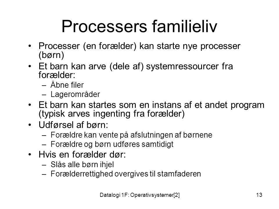 Processers familieliv