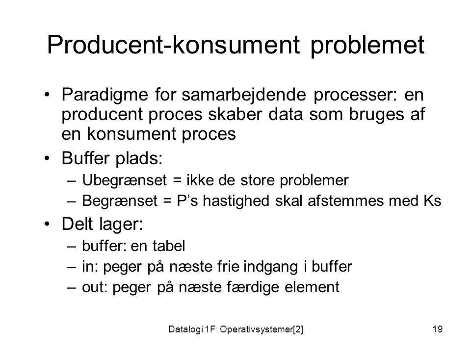 Producent-konsument problemet
