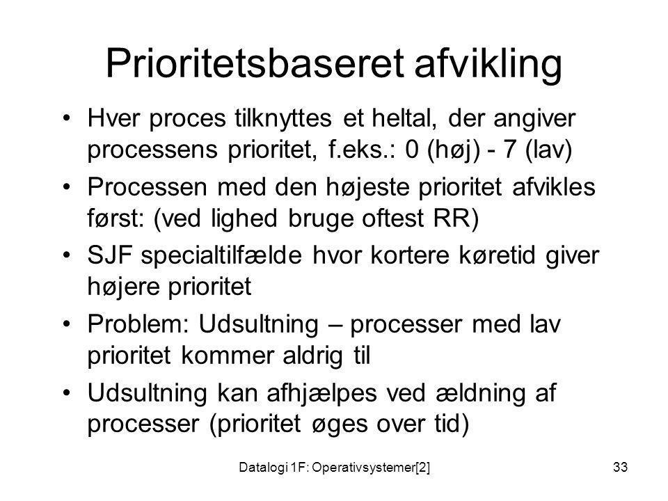 Prioritetsbaseret afvikling