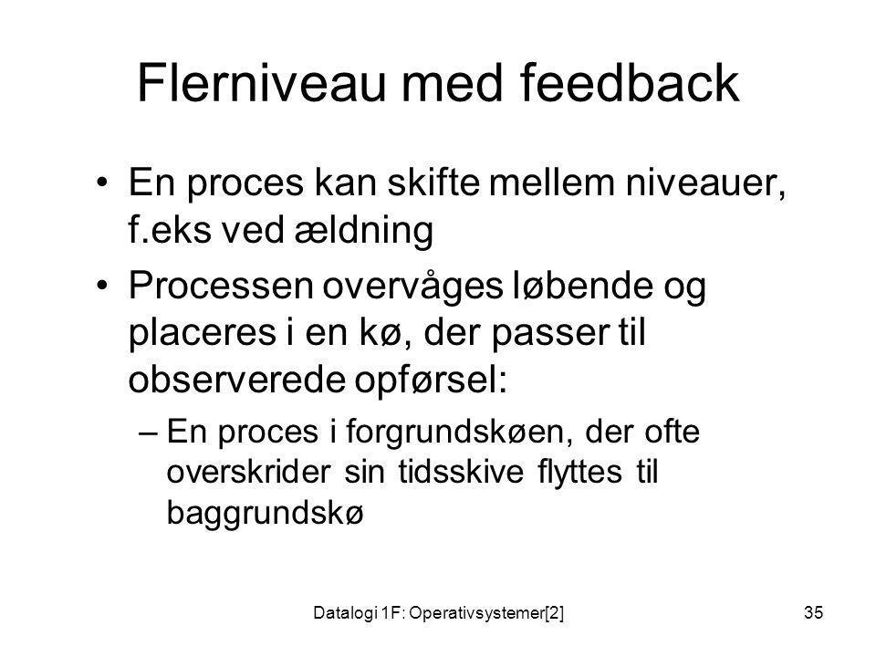 Flerniveau med feedback