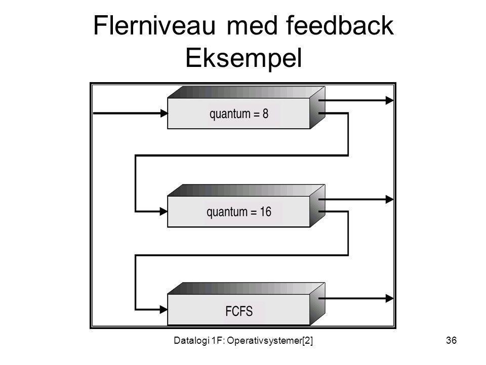Flerniveau med feedback Eksempel