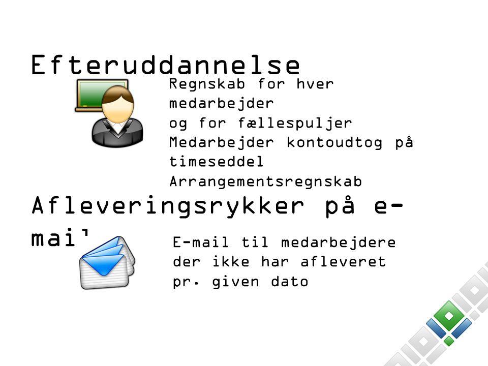 Afleveringsrykker på e-mail