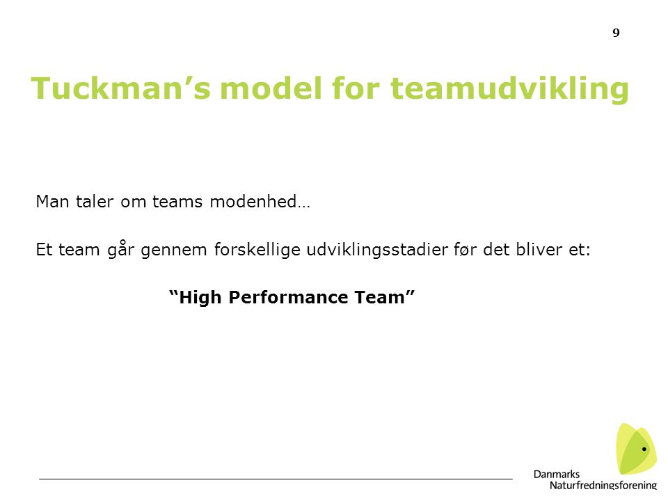Tuckman's model for teamudvikling
