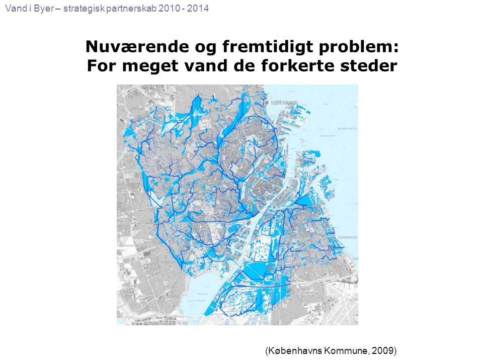 Nuværende og fremtidigt problem: For meget vand de forkerte steder