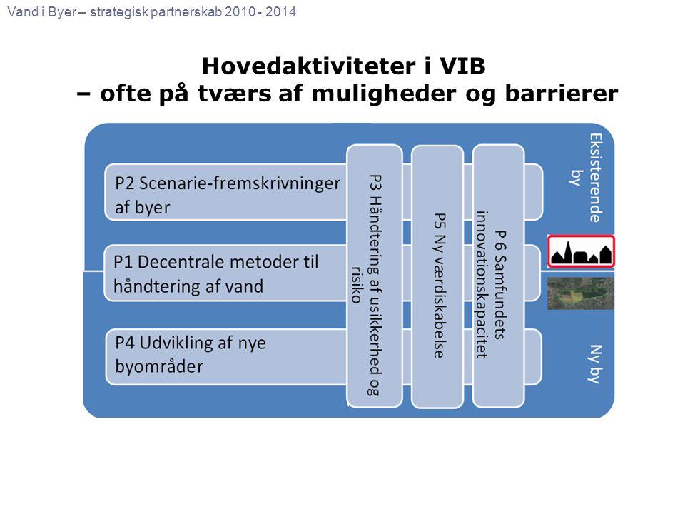 Hovedaktiviteter i VIB – ofte på tværs af muligheder og barrierer