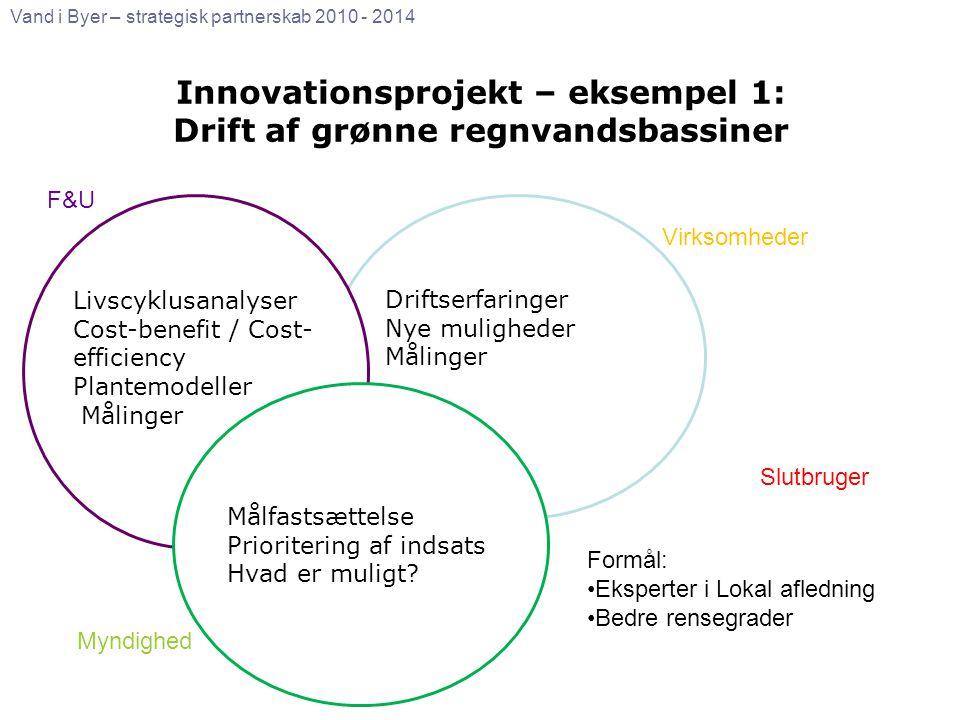 Innovationsprojekt – eksempel 1: Drift af grønne regnvandsbassiner