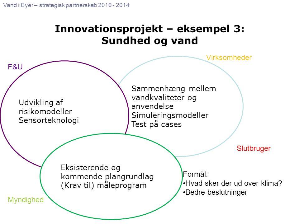 Innovationsprojekt – eksempel 3: Sundhed og vand
