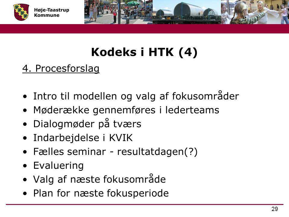 Kodeks i HTK (4) 4. Procesforslag