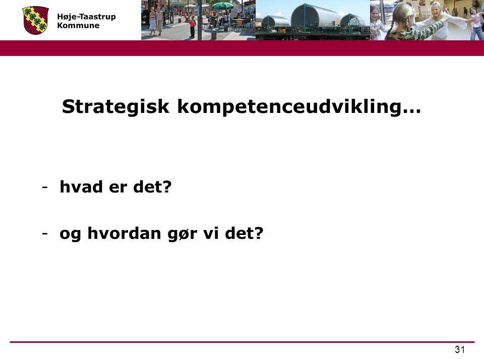 Strategisk kompetenceudvikling…